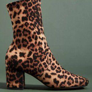 Silent D Leopard Print Ankle Boots - Size 39